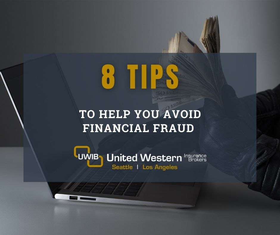 Blog title image: 8 tips to avoid financial fraud