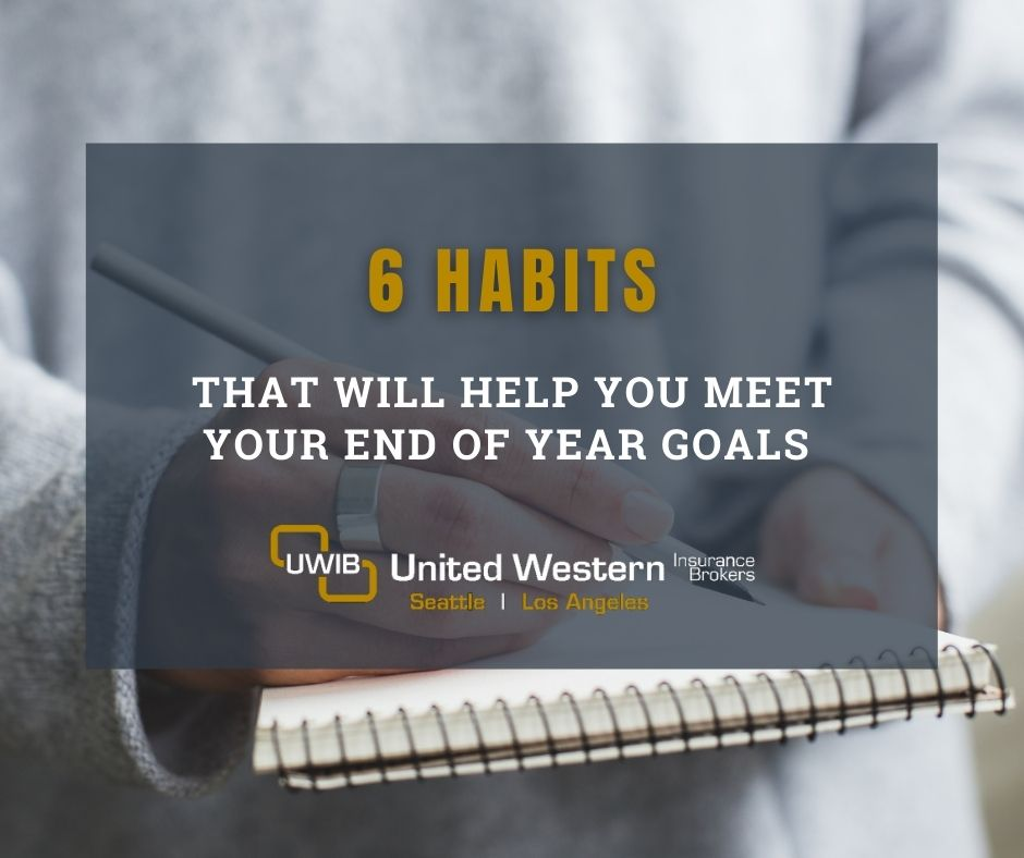 6 habits that will help you meet your end of year goals